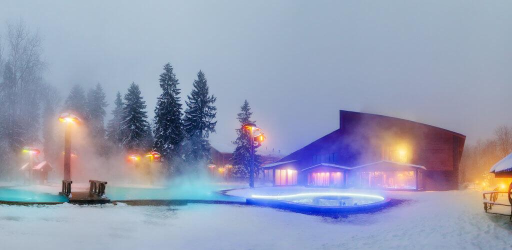 Всесезонный бассейн в гостиничном комплексе «Солнечный»